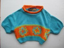 New Designer winter jumper by Marinus size 92 for 2 year blue orange 100% cotton