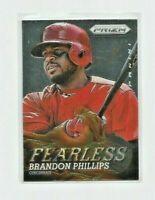 BRANDON PHILLIPS (Cincinnati Reds) 2013 PANINI PRIZM FEERLESS INSERT CARD #F19