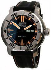 "BARBOS ""Nautilus"" Day-Date Saphir Taucheruhr Wasserdicht 1000m Armbanduhr Neu."