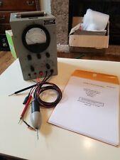 Vintage Sentinel Electronics Me 26 Du Vacuum Tube Voltmeter Vtvm With Manual