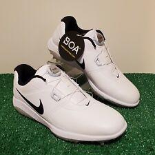 Nike Mens Golf Shoes Vapor Pro Boa Size 10 Wide White Black Aq1789-100