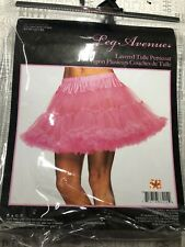 New Leg Avenue 8990 Neon Pink Layered Soft Tulle Petticoat Skirt