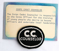 OBSOLETE  SALVATION  ARMY  CORPS  CADET COUNSELOR  EPAULET  PATCH