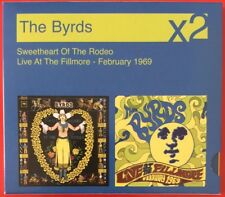 THE BYRDS X2 SWEETHEART OF THE RODEO & LIVE AT THE FILLMORE FEB 1969 DOUBLE CD