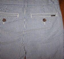 NWT Polo Ralph Lauren $59.50 Blue/White Stripe SEERSUCKER Pants 16 Boys Preppy