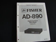 Original Service Manual Fisher AD-890