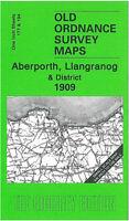 OLD ORDNANCE SURVEY MAP ABERPORTH LLANGRANOG 1909 SW CARDIGANSHIRE ABERAYRON
