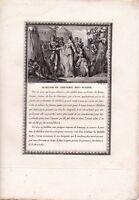 Gravure XVIIIe Mariage Childéric Basine de Thuringe Reine des Francs