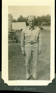 WWII 1942-44 US Army Pine Camp, NY soldier's Photo of Col Sundt
