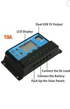 PWM solar controller 12V24V10A LCD display photovoltaic