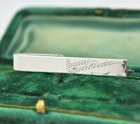 Vintage Art Deco Sterling Silver tie clip / slide Peaky Blinders #Y452