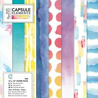 """Papermania 12x12"""" paper capsule collection elements pigment collection 36 sheet"""