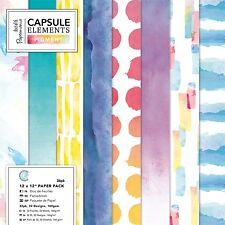 Papermania 30.5x30.5cm papier capsule collection elements pigment 36 feuille