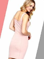 French Connection 12 Pink Bodycon Mini Summer Bandage Dress BNWT.