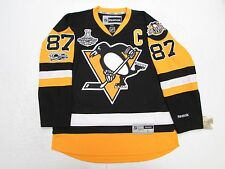SIDNEY CROSBY PITTSBURGH PENGUINS HOME 2017 STANLEY CUP CHAMPIONS REEBOK  JERSEY d344db91a