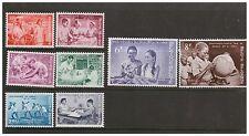 Belgio België BELGIQUE 1960 Indipendenza del Congo Set di 8 Nuovo di zecca never hinged
