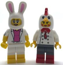 LEGO 2 NEW COSTUME MINIFIGURES BUNNY SUIT GUY AND CHICKEN SUIT MEN PEOPLE