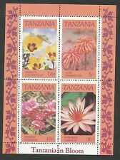 Tanzania blok 57 postfris motief bloemen