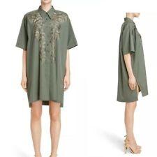 Dries Van Noten Donny Embroidered Shirt Dress S