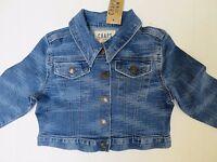 Girls denim jacket jeans DESIGNER age 2 3 4 5 6 7 8 9 10 11 12 years RRP $48