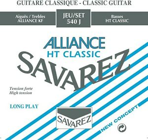 Savarez 540J Blue Alliance High Tension Silver Classical Guitar Nylon Strings