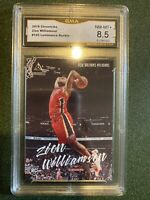 2019 Panini Chronicles Zion Williamson #143 Luminance Rookie GMA Graded 8.5 Sgc