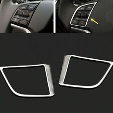 2pcs ABS Chromed steering wheel control buttons decorative Frame Trim for Tucson