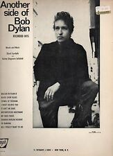 RARE 'Another side of Boby Dylan' Sheet Music 60's Words, Music, Chords Guitar
