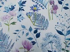 Designers Guild Curtain Fabric 'MOKUREN' 3.6 METRES (360cm) Indigo  100% Cotton