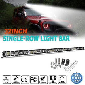 """1200W 32"""" inch LED Light Bar Spot Flood Combo for Jeep Tractor Boat Offroad 34''"""