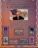 1939 Worlds Fair 7 US Stamp Commemorative Set American Historic Society Display