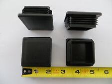 "Qty 4 - 2"" Square Tube Plastic Plug End Cap 2x2 inch 10/14 Black Fence Post Pipe"