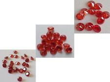 Orange/Red Cubic Zirconia Loose  lots   1 -20 mm CZ IF Stones *Wholesale*USA