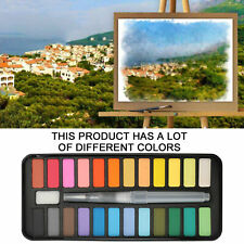 24 Colors Watercolor Paint Set With Brush Oil Painting Water Colour Pigments Kit