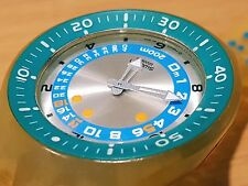 VTG Swatch Scuba Diver's Watch Full Jelly Sea Depth Measurement  200M RARE ITEM!