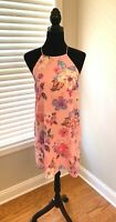 Everly Pink Lined Sun Dress Size M (2802)
