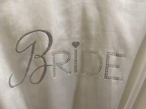 Blingy white Victoria's Secret I Do Bridal Robe - One Size - Bride!