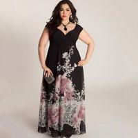 Sommerkleid Blumen Print Kleid Mollige Abendkleid Übergröße sofort liefer BC477