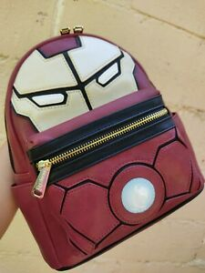 Loungefly Marvel Iron man mini backpack LIGHT UP~New with tags hard to find