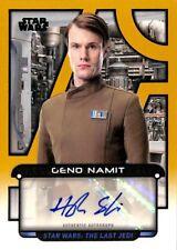 Topps Star Wars 2018 Galactic Files Autograph Purple Hugh Skinner - Namit 02/10