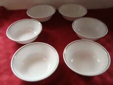 "Set of 6 Coupe Cereal Bowls ~ CORELLE by Corning ""Winter Holly""  Green Band"