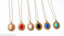 Unbranded Stone Oval Costume Necklaces & Pendants