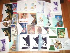 lot 35 christmas cards religious  with envelopes new unused vintage modern