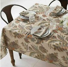 "NEW Echo New York Ishana Tablecloth 52"" X 70"" Oblong Fall Autumn Paisley Floral"