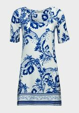 Simply Ladies Short Sleeve Blue & White Floral Tunic Dress 10 12 14 16 18 20 12