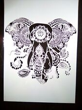 A4 Wall Stencil Reusable Template Henna Mandala Elephant Home Decor Scrapbook #2