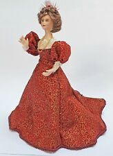 12th Scale Hand-Made Lady Porcelain Doll dressed to the Victorian Era