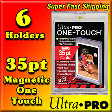 6 ULTRA PRO 35 PT GOLD MAGNETIC ONE TOUCH CARD HOLDERS 81575-UV-6