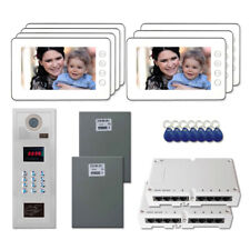 """Office Access Door Video Entry Intercom System Kit with (7) 7"""" Color Monitors"""