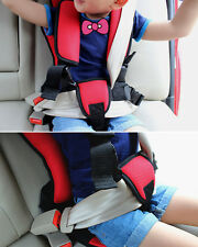 Practical Red Soft Safety Kids Car Seat For Child Baby Portable Safety Belt